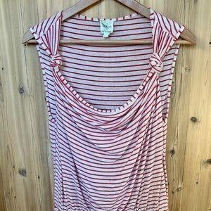 Anthropologie cowl neck striped knit dress
